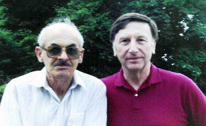Б. Окуджава и В. Фрумкин, 1990