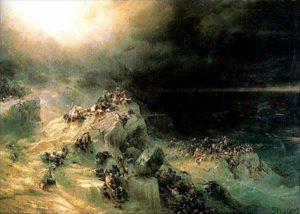 Всемирный потоп И.К. Айвазовский, 1864г., холст, масло, 2,5 м х 3,2 м.