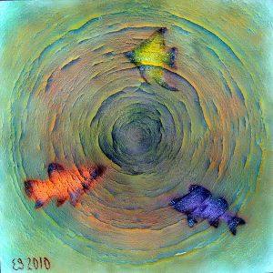 Fishes / Рыбы / 2010 / Acril on canvas / 100х100см
