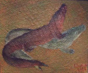 Alligators playing / Игры аллигаторов / 2008 / Acril on canvas /120х100см