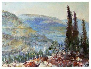 Ителла Мастбаум. Иудейские горы, 1993, холст, масло