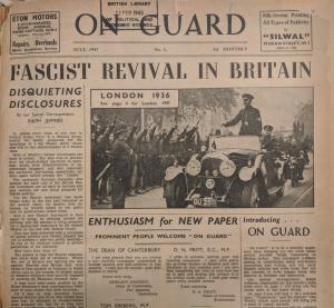 Первый номер газеты Группы 43. Обратите внимание на фотографию — это Лондон в 1936 году