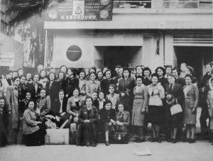 Группа призвавшихся в Женский вспомогательный территориальный корпус*