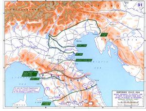 Карта военных действий в Северной Италии