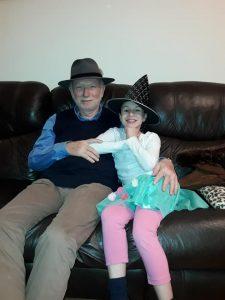 Автор с внучкой