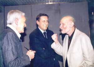 Слева направо: Посол Израиля во Франции Эли Барнави, посол Германии в Израиле Сирил Нун и Аарон Мунблит
