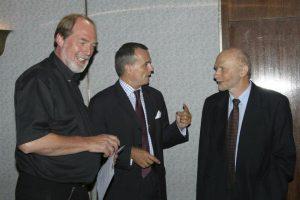 Слева направо: Hermann Bünz, Gerard Araud & Aharon Moonblit