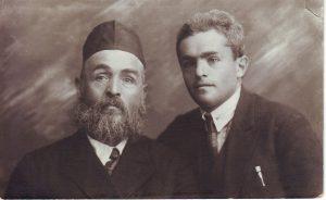 Хаим-Йехошуа Шифман с сыном Яковом.1920гг.