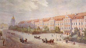 Здание Двенадцати коллегий в 1853 г.