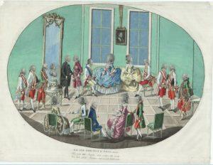 Павел Петрович и Мария Федоровна в Вене. Гравюра И. Лошенколя, 1782 г.