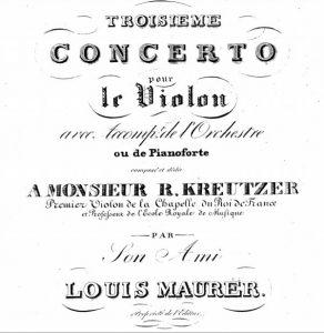 «Тройной концерт» Р. Крейцера, посвященный Мауреру