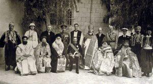 Самуэль с религиозными лидерами, Иерусалим 1922 год