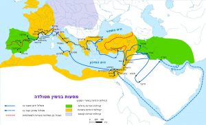 Карта путешествия Беньямина из Туделы