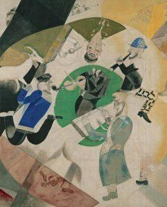 М.Шагал Центр Триптиха «Введение в Новый Еврейский Театр» 1920