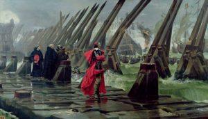 Кардинал Ришелье во время осады Ла-Рошели. Анри-Поль Мотт, 1881 г.