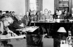 Бен Гурион на встрече с комиссией