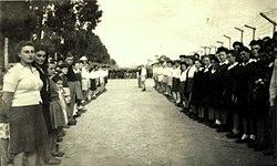 11.11.1947 в лагере ждут приезда Голды Меерсон