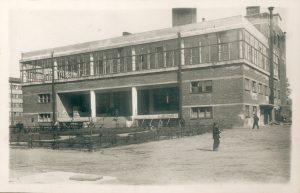 Фабрика-кухня на Флюговом (студенческая столовая ЛПИ на Лесной). 1936 г. (фотография из собрания Музея Истории СПбПУ)