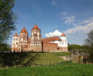Замок Мир, место сражения войны 1812 года