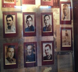 стенд партизанские отряды в краеведческом музее Новогрудка