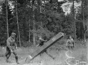 Разрушение советского пограничного поста. Хийтола, 29 июня 1941 г. (из Военного фотоархива Финляндии – SA-Kuva), 30944