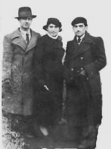 Шмил Беринский – слева и Рухл с братом Гершл Фикс