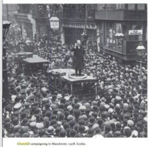Предвыборный митинг в Манчестере 1908 год