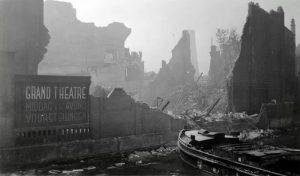 Гранд Театр после бомбардировки Роттердама